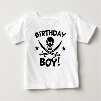 De Schedel van de Piraat van het feestvarken Baby T Shirts