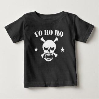De Schedel van de Piraat van Ho Ho van Yo Baby T Shirts