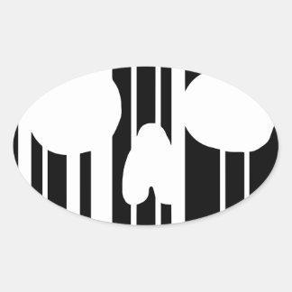De Schedel van de streepjescode Ovale Sticker