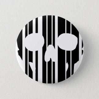 De Schedel van de streepjescode Ronde Button 5,7 Cm