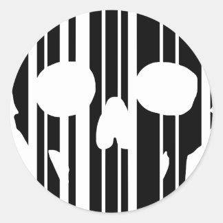 De Schedel van de streepjescode Ronde Sticker