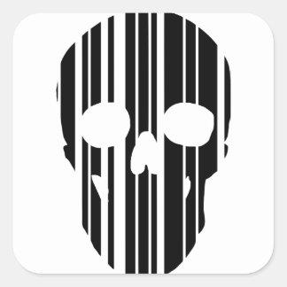 De Schedel van de streepjescode Vierkante Sticker
