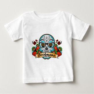 De Schedel van de suiker met Glazen Baby T Shirts