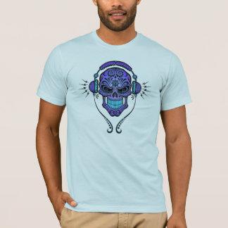 De Schedel van de Suiker van DJ - diep Blauw T Shirt