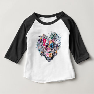 De schedel van de Valentijnsdag met harten Baby T Shirts
