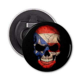 De Schedel van de Vlag van het Puerto Ricaan Button Flesopener