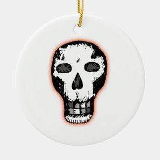 De Schedel van Halloween Rond Keramisch Ornament