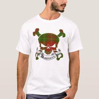 De Schedel van het Geruite Schotse wollen stof van T Shirt
