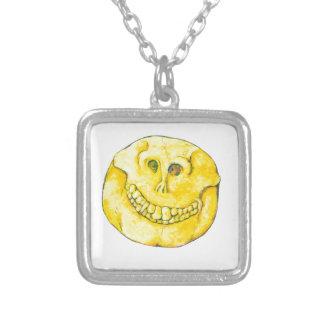 De Schedel van het Gezicht van Smiley Zilver Vergulden Ketting