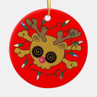 De Schedel van het rendier Rond Keramisch Ornament