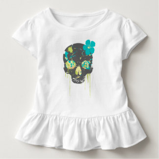 De schedel van meisjes girlie kinder shirts