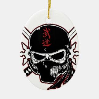 De Schedel van Ninja Keramisch Ovaal Ornament