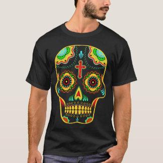 De schedel volledige kleur van de suiker t shirt