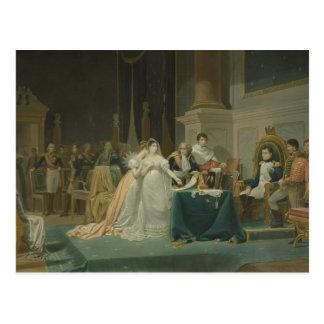 De scheiding van de Keizerin Josephine (1763-1814) Briefkaart