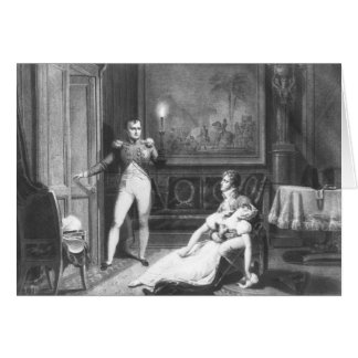 De scheiding van Napoleon I Wenskaart