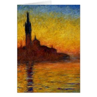 De Schemering van Claude Monet //Venetië Briefkaarten 0