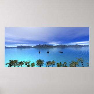 De schepen bij de Baai Poster