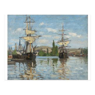 De Schepen die van Claude Monet op de Zegen in Briefkaart