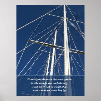 De Schepen die van het Gedicht van het zee & van Poster