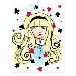 De Schets Alice van de waterverf Briefkaart