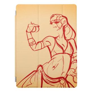 De schets die van het gebaar stammenfusie trekken iPad pro cover