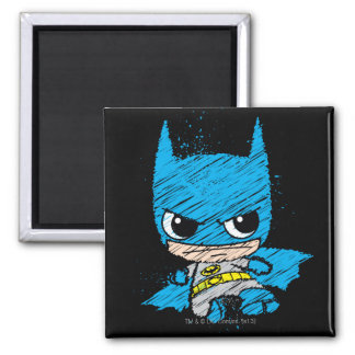 De Schets van Batman van Chibi Vierkante Magneet