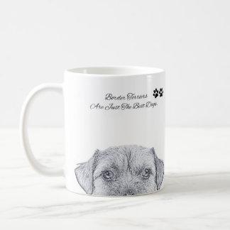 De Schets van de Hond van Terrier van de grens, de Koffiemok