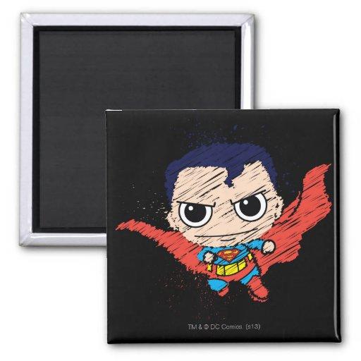 De Schets van de Superman van Chibi Koelkast Magneet