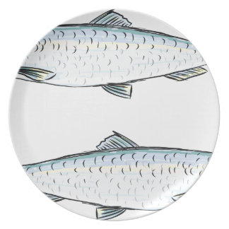 De Schets van de Vissen van haringen Melamine+bord