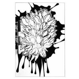 De Schets van Grunge van tulpen Whiteboard