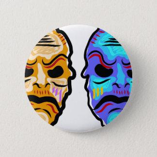 De Schets van het Masker van het voodoo Ronde Button 5,7 Cm