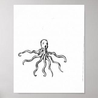 De schetsDruk van de octopus Poster