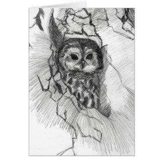 De schetswenskaart van de uil door Nicole Janes Kaart