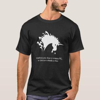 De scheur van de eenhoorn t shirt