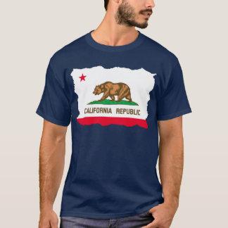 De Scheur van de Vlag van Californië uit T Shirt