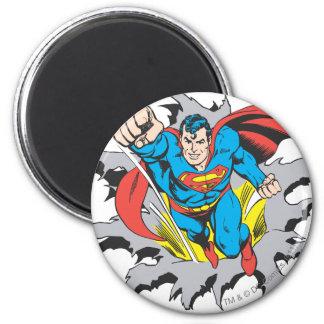 De Scheuren van de superman door Ronde Magneet 5,7 Cm