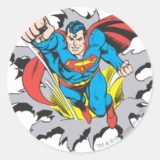 De Scheuren van de superman door Ronde Stickers