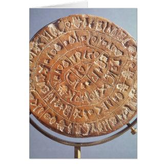 De schijf Phaistos, met onbekende betekenis Kaart