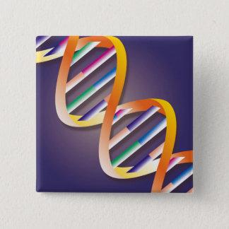De Schijnwerper van DNA Vierkante Button 5,1 Cm