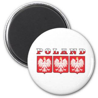 De Schilden van Polen Eagle Ronde Magneet 5,7 Cm