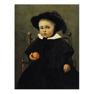 De schilder Adolphe Desbrochers als Kind Briefkaart