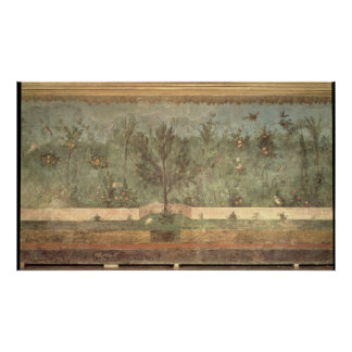 De Schilderijen van de tuin van de 'Villa van Livi Poster