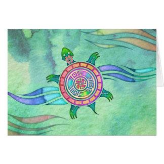 De Schildpad Lege Notecard van de geest Kaart