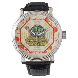 De Schildpad van de waterverf/Schildpad Feng Shui Horloge