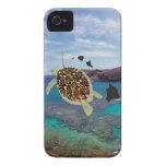 De Schildpad van Hawaï van de Baai van Hanauma Case-Mate iPhone 4 Hoesje
