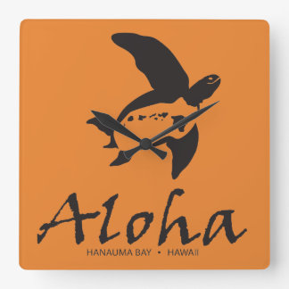 De Schildpad van Hawaï Vierkante Klok
