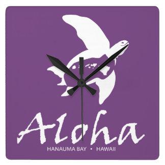 De Schildpad van het Eiland van Hawaï Vierkante Klok