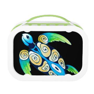 De Schildpad van het zee op Zwarte Lunchbox