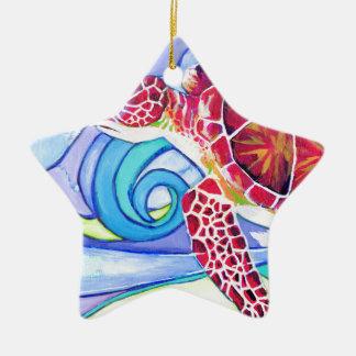 De Schildpad van Surfin Keramisch Ster Ornament