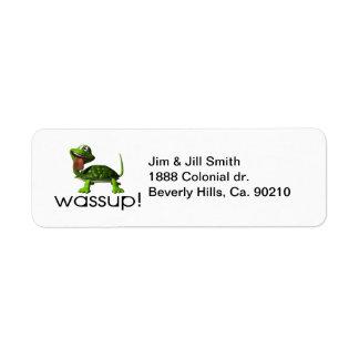 De Schildpad van Wassup Etiket